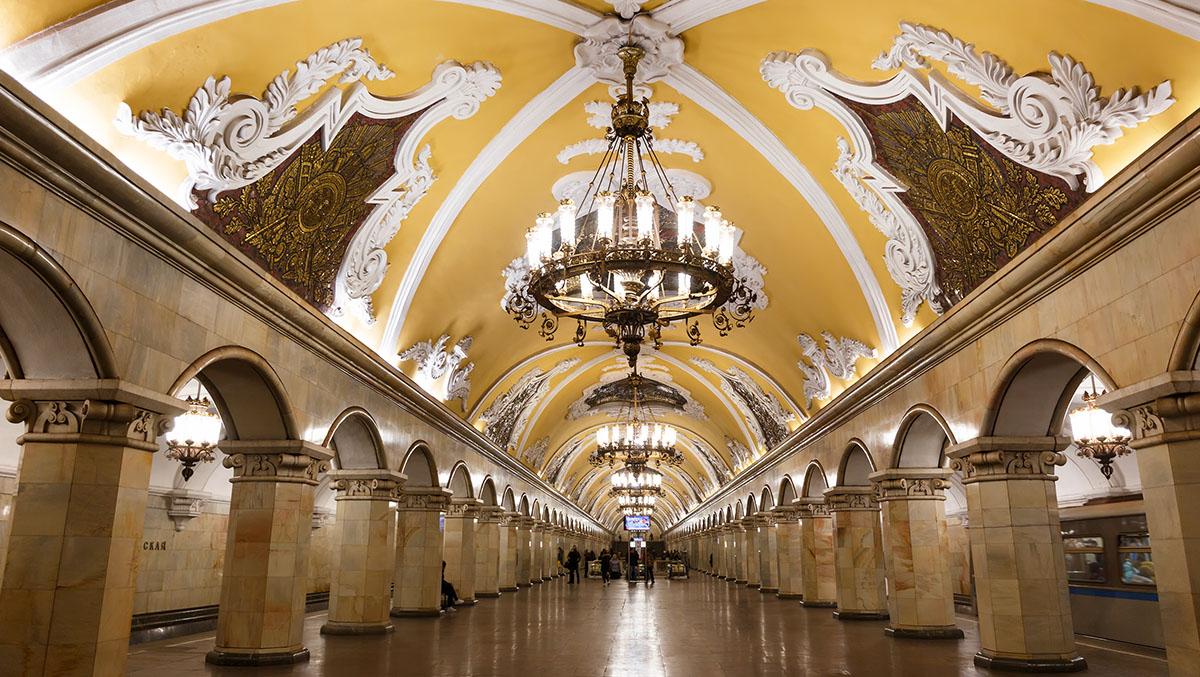 Stații de metrou spectaculoase din lume. Komsomolskaia, Moscova